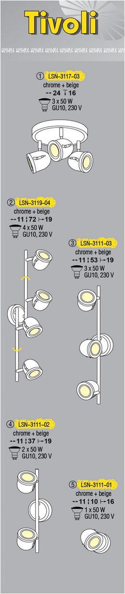 Технические характеристики светильника Tivoli LSN-3111-03