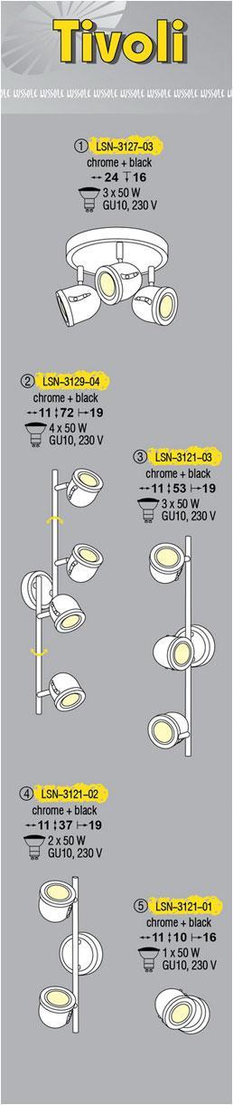 Технические характеристики светильника Tivoli LSN-3121-03