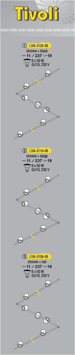 Технические характеристики светильника Tivoli LSN-3129-06