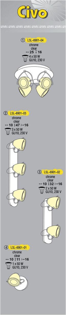 Технические характеристики светильника Civo LSL-6901-04