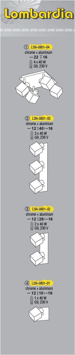 Технические характеристики светильника Lombardia LSN-0801-04