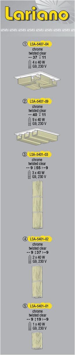 Технические характеристики светильника Lariano LSA-5407-04
