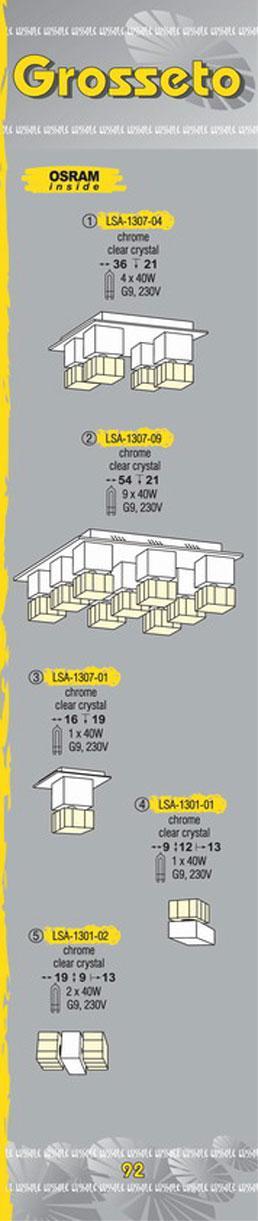 Технические характеристики светильника Grosseto LSA-1307-04