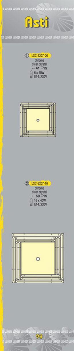 Технические характеристики светильника Asti LSC-3207-06