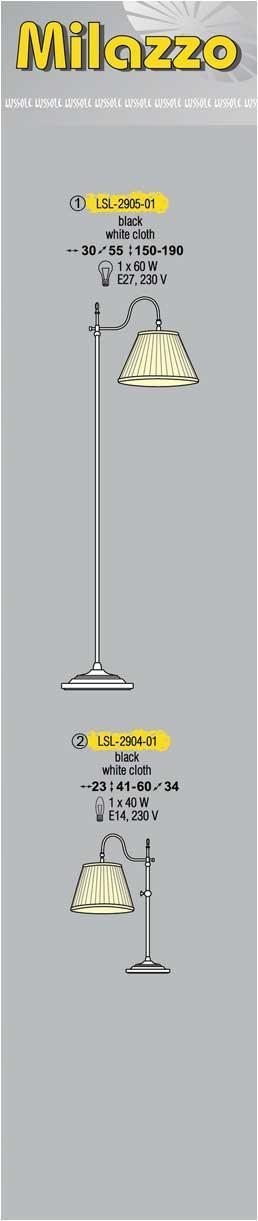 Технические характеристики светильника Milazzo LSL-2905-01