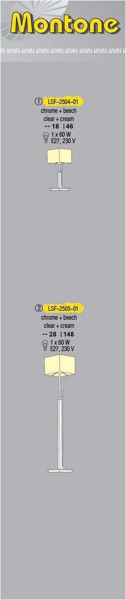 Технические характеристики светильника Montone LSF-2505-01