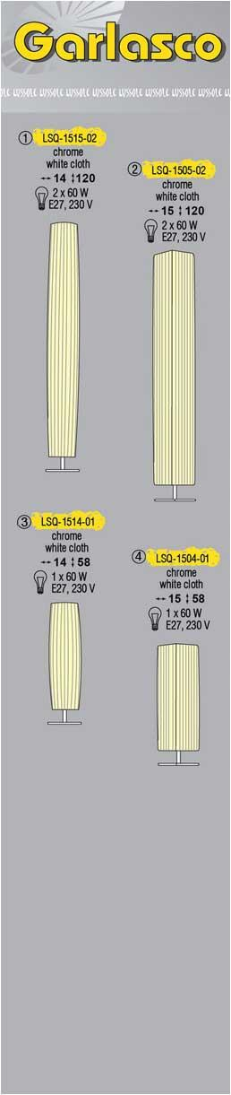 Технические характеристики светильника Garlasco LSQ-1505-02