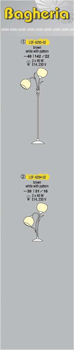 Технические характеристики светильника Bagheria LSF-6295-02