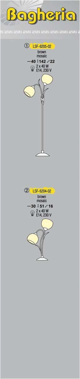 Технические характеристики светильника Bagheria LSF-6205-02