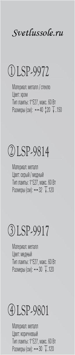 Технические характеристики светильника LSP-9972
