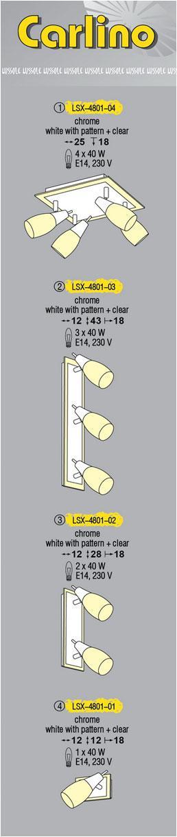Технические характеристики светильника Carlino LSX-4801-04