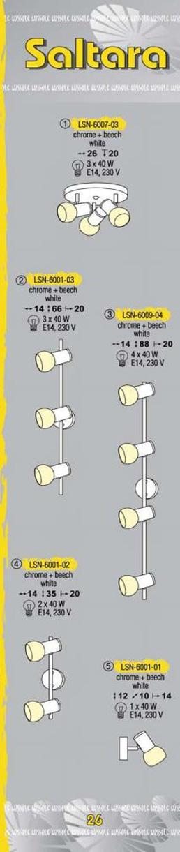 Технические характеристики светильника Saltara LSN-6001-03