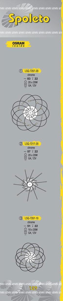 Технические характеристики светильника Spoleto LSQ-7207-20