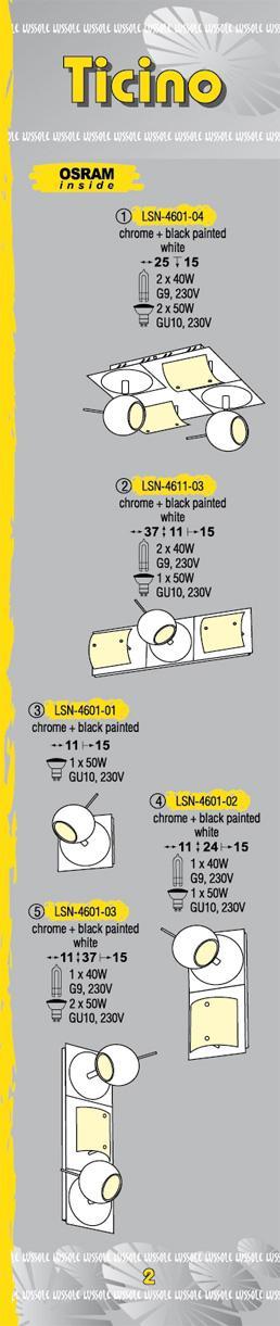 Технические характеристики светильника Ticino LSN-4611-03