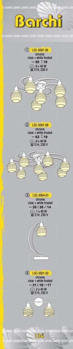 Технические характеристики светильника Barchi LSC-9307-08