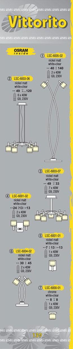 Технические характеристики светильника Vittorito LSC-6003-07
